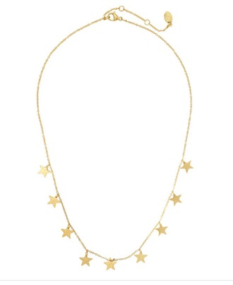 jewels necklace gold stars