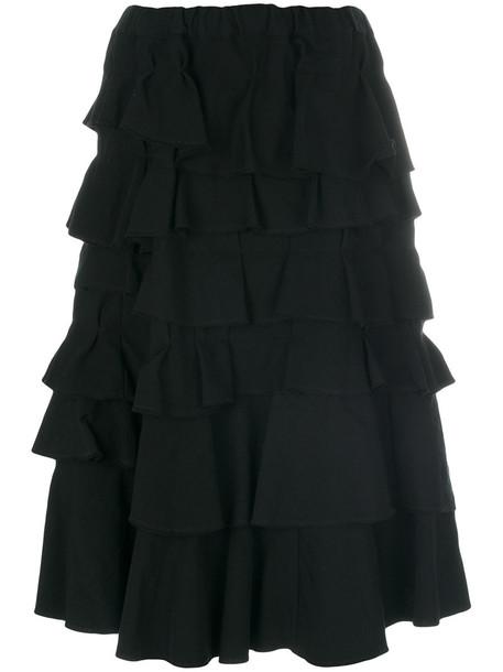 skirt women midi black wool