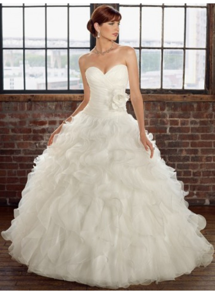 Affordable Bridal Gowns - Unique Ball Gown Sweetheart Wave Ruching ...