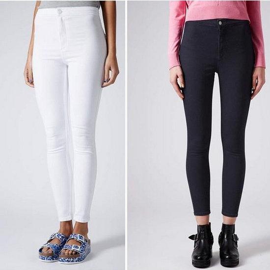 Envío gratis 2014 nuevo blanco de invierno negro de cintura alta, elástico lápiz delgado pantalones vaqueros en de en Aliexpress.com