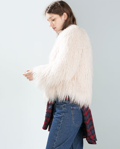 Veste Fausse Fourrure Trf Manteaux Femme Zara France