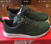 shoes,nike air max thea,carbon green