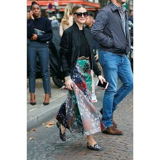 pants top flats olivia palermo blogger streetstyle paris fashion week 2016 fall outfits skirt jacket blouse