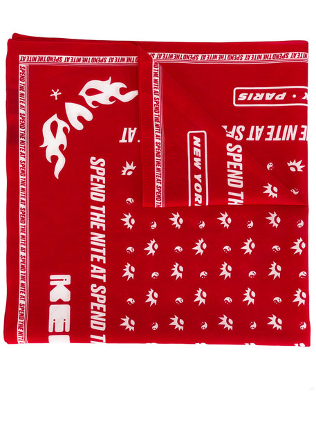 printed scarf women scarf cotton red