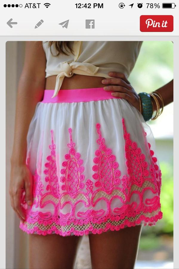 skirt hot pink skirt