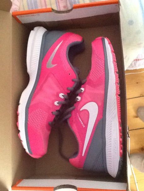 shoes nike pink grey pastel sportswear sports shoes