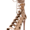 Aquazzura amazon leather heels in nude | fwrd