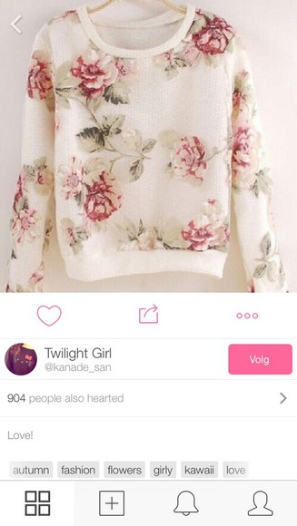 floral sweater white floral