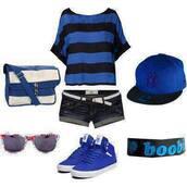 hat,blue,black,white,boobies,snapback,shorts,purse,glasses,sunglasses,belt,air jordan,shoes,bracelets