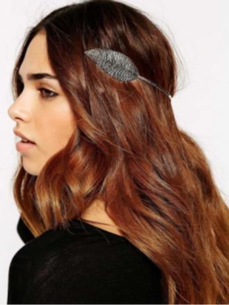 hair accessory leaf leaf hair dark leaf magic fairy impression14