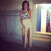 skirt,dress,split skirt,tank top