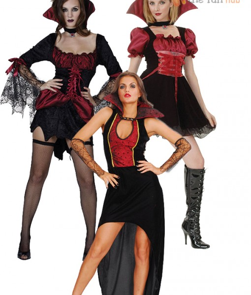 Ladies Sexy Halloween Vampiress Outfit Adult Womens Fancy Dress Costume Sz 8- 14 | Amazing Shoes UK