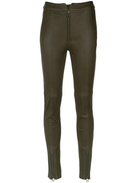 Nk leggings leather leggings women leather green pants