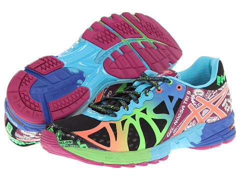 ASICS GEL-Noosa Tri™ 9 Black/Neon Coral/Green - Zappos.com Free Shipping BOTH Ways