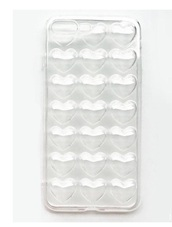 phone cover,girly,clear,transparent,iphone cover,iphone case,iphone,heart