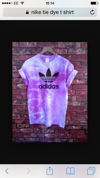 t-shirt purple tie dye top