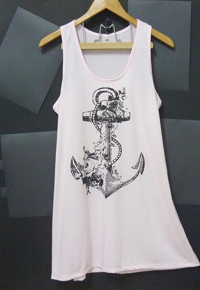 tank top pink tank top mini dress tank top dress anchor tank top vintage tank tops flower tank top anchor