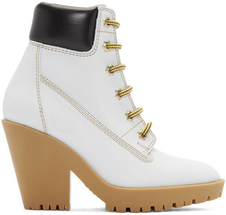 boots lace white suede off-white shoes