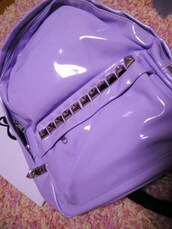 bag,purple,latex?,studded