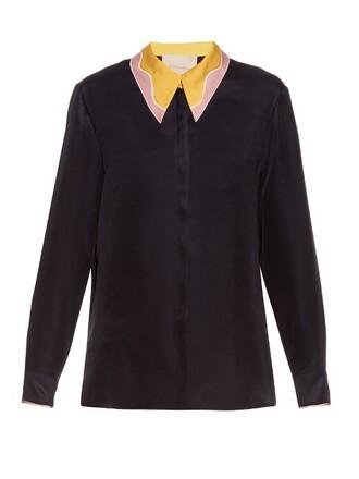 blouse silk light pink light pink top