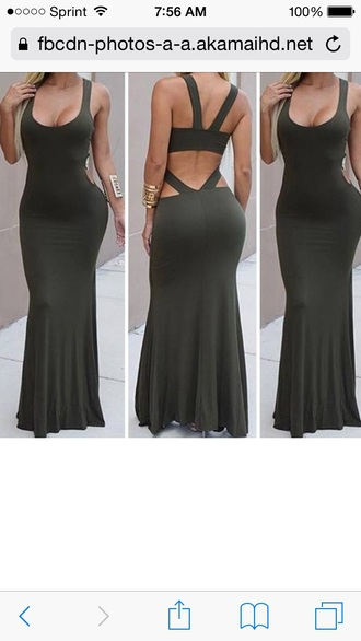 dress green dress long dress maxi dress backless dress bodycon dress