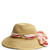 Scarf-band woven-straw hat