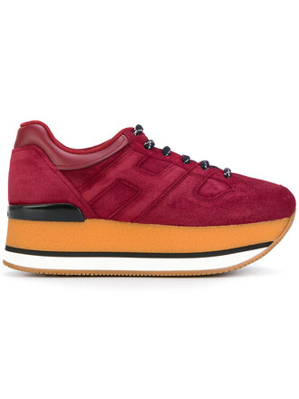 sneakers. women sneakers leather suede red shoes