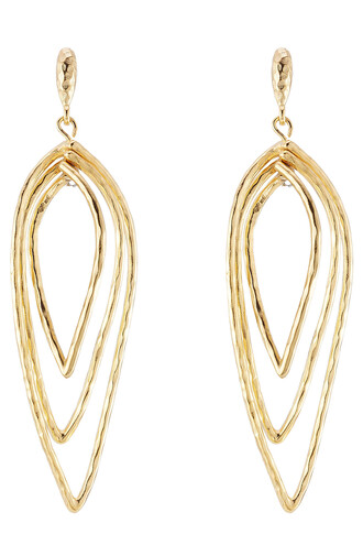 metal layered earrings gold jewels