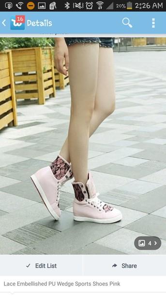 shoes sports shoes pink shoes lace-up shoes