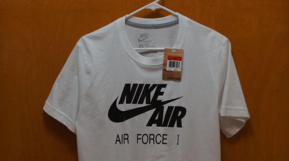nike air force 1 t shirt mens fashion street wear slim fit