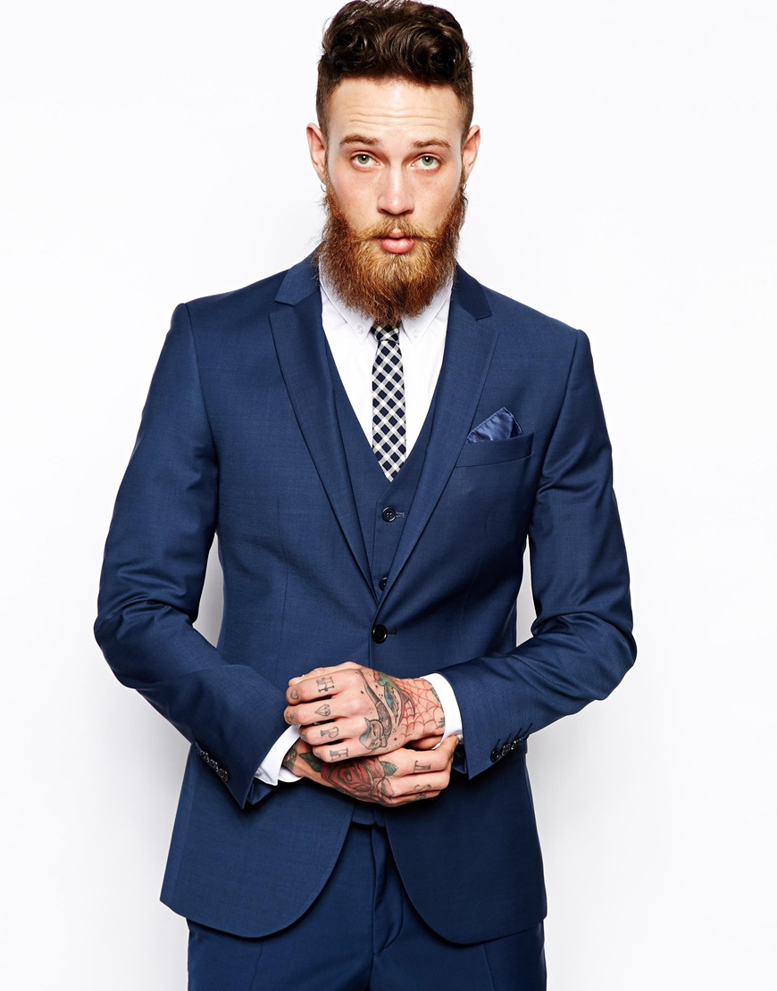 River Island Slim Fit Suit Jacket at asos.com