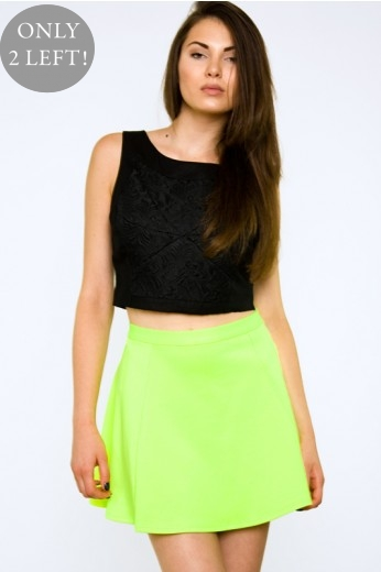 Neon Yellow Skirt- $48