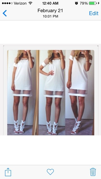 dress white dress mesh dress sheer dress