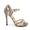 Strappy stiletto - snakeskin high heel sandals