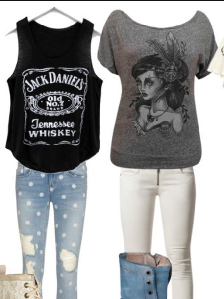 jeans shirt top blouse ripped jeans cat top boots shoes sweater
