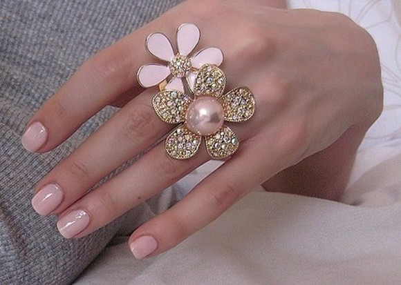 pink jewels ring