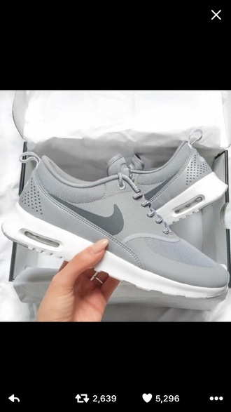 shoes grey charcoal leather suede nike trainers nike air max thea nike shoes
