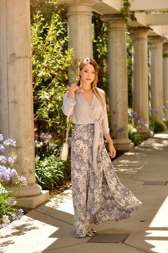 hapa time blogger grey long skirt maxi skirt