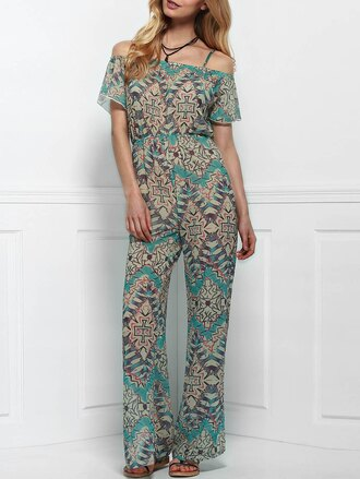 jumpsuit gamiss maxi fashion summer boho tribal pattern