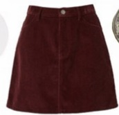 skirt,dark red
