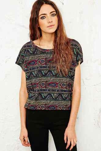 blouse paisley t-shirt boho