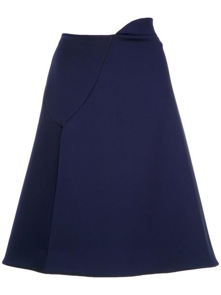 Gloria Coelho skirt women spandex blue neoprene