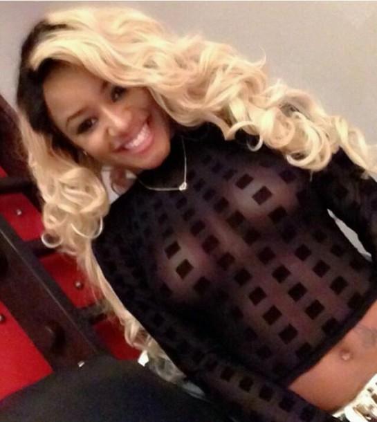 blouse see through black stylish cute