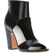 shoes,black,heels,cut-out,high heels