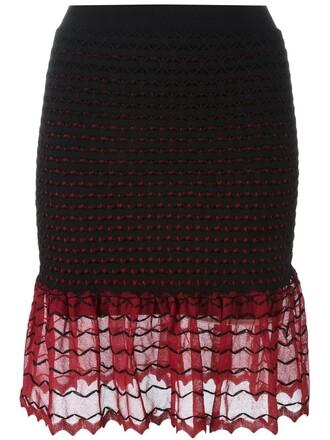 skirt peplum skirt women black silk
