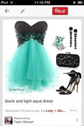 dress,aqua blue,empire waist