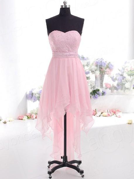 dress パーティードレス ミニ ピンク