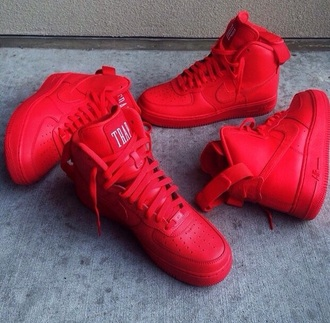 shoes nike shoes red shoes trap