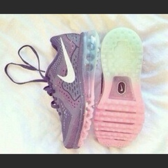 shoes nike running shoes rainbow