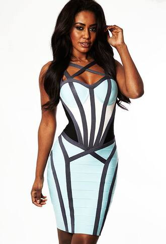 dress strappy black blue white bandage dress maxi dress beautiful cut awesome sexy lovely tanned